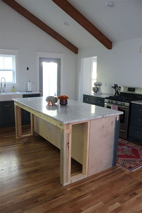 How To Support A Countertop Without Cabinets by Kitchen Renovation Progress Thewhitebuffalostylingco
