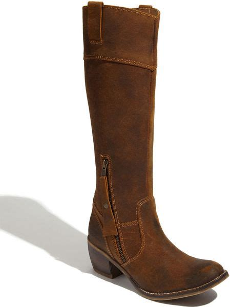 Kickers Zipper Boot Brown kickers utopiale suede boot in brown light brown lyst