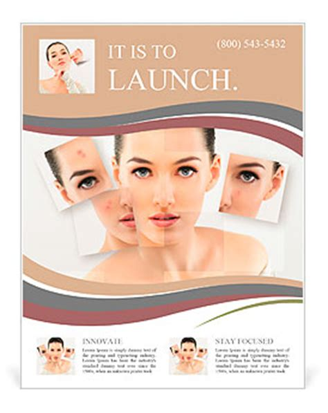 templates for beauty flyers a beauty girl on the grey background flyer template