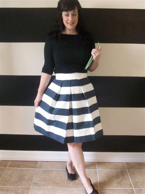 navy and white striped skirt pleated skirt custom