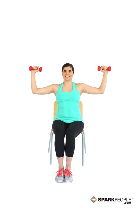 seated shoulder dumbbell press exercise demonstrations