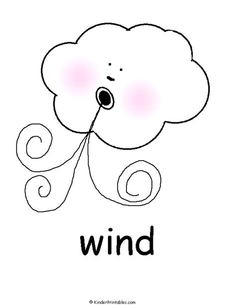 wind coloring pages for preschool weather symbols part 2 colour learningenglish esl