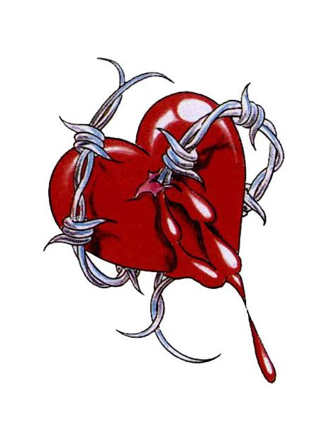 barbed wire heart tattoo designs barb wire pierced free design ideas