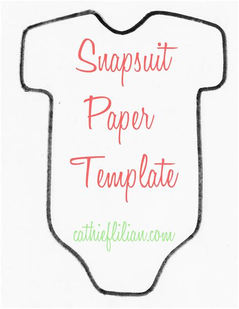 Baby Template cathie filian snapsuit decorating baby shower handmade