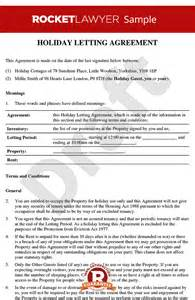 holiday letting agreement short term letting agreement