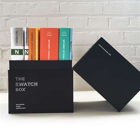 Swatch Free Box the swatchbox set parse parcel delivering paper