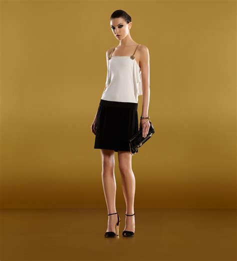 gucci ready to wear tank dress with volant
