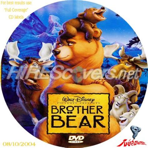 disneys brother bear movie dvd blu ray trailer woning dvd cover custom dvd covers bluray label movie art dvd