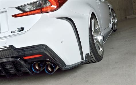 lexus rc f exhaust lexus rc f tuned by rowen japan with carbon parts and