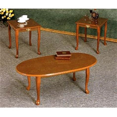 coffee table 3 pc oak veneer coffee and end table set