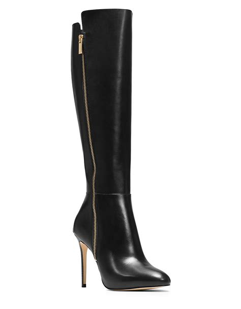 michael kors boots michael michael kors clara leather boots in black lyst