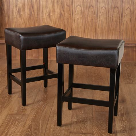 backless brown leather counter stools backless brown leather counter stools 2 pack bar