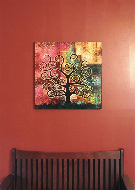 artwork for home modern art for home abstract tree art large canvas