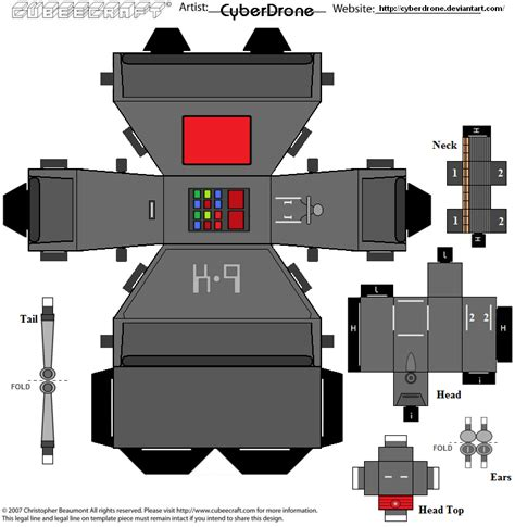 Cubee Papercraft - cubee k 9 by cyberdrone on deviantart
