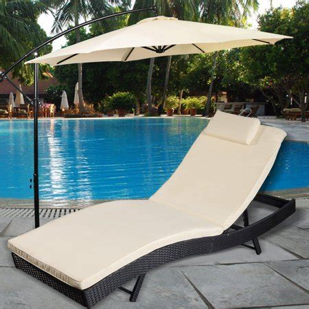 pool lounge chairs walmart costway adjustable pool chaise lounge chair outdoor patio
