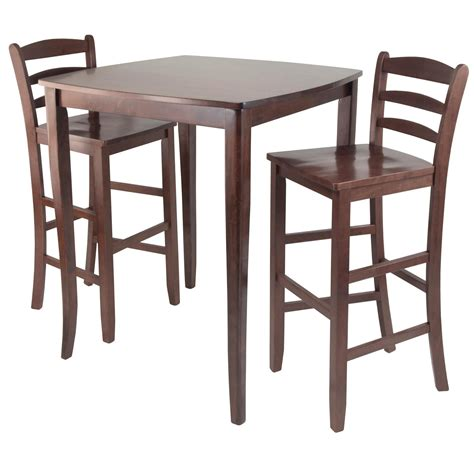 high top bar table and stools amazon com winsome inglewood high pub dining table with