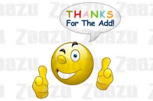 Movies Thanksgiving Point Emoticon Thanks For The Add Smiley Zaazu Com