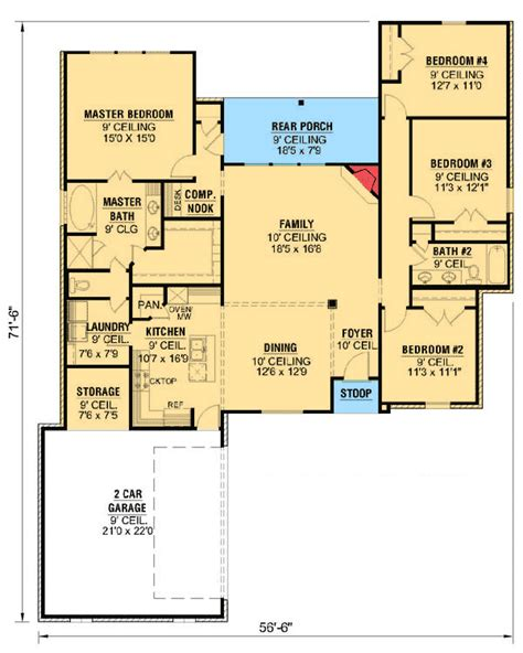house plans open concept open concept country 56320sm architectural
