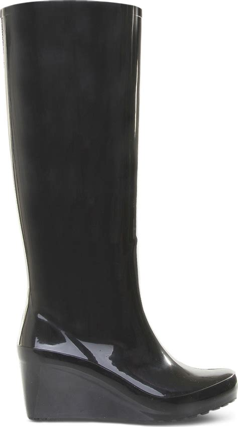 carvela kurt geiger wizard wedge boots in black lyst