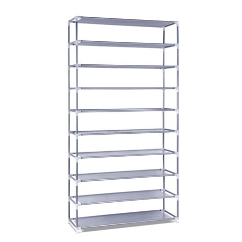 shoe storage stackable 10 tiers stackable shoe storage rack 159cm