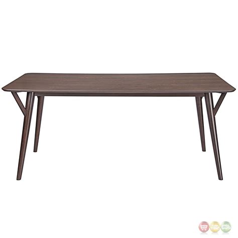 Vintage Modern Dining Table Brace Vintage Modern Wood 36 Quot Dining Table With Wood Legs Walnut