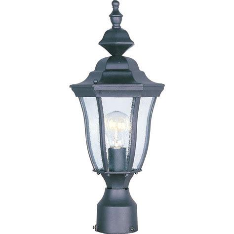 home depot christmas light pole maxim lighting madrona 1 light black outdoor pole post mount 1013bk the home depot