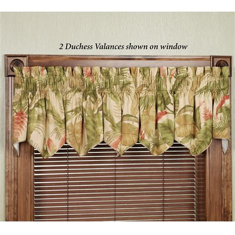 Tropical Kitchen Curtains Laselva Duchess Swag Valances