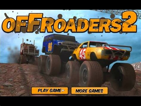 monster trucks you tube offroaders 2 games racing games car games monster truck