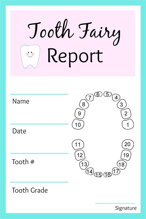 Printable Card From Tooth Fairy | tooth fairy ideas and free printables tooth fairy