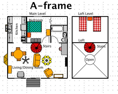 A Frame Floor Plans by A Frame House Style A Free Ez Architect Floor Plan For