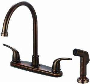 Kitchen Faucets Rubbed Bronze Finish Olympia Faucets K 5372 Orb Two Handle Kitchen Faucet