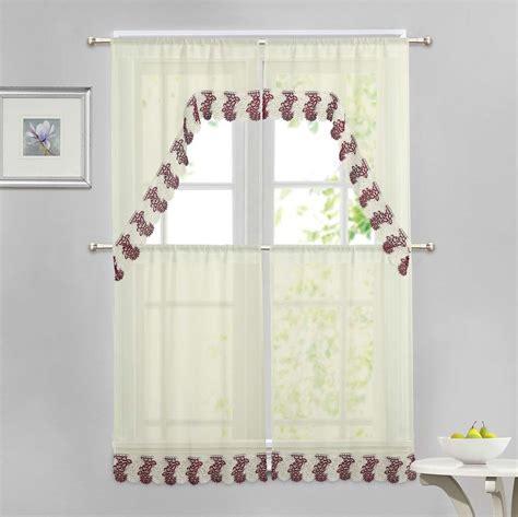 beige and burgundy curtains beige 4 pc window curtain set burgundy and ivory macrame