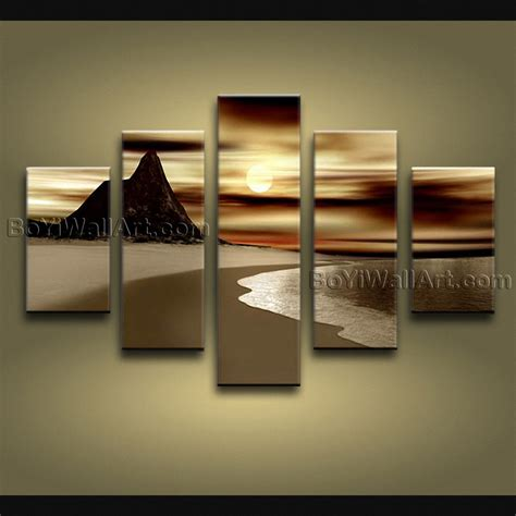 large wall art large contemporary wall art seascape painting sunrise