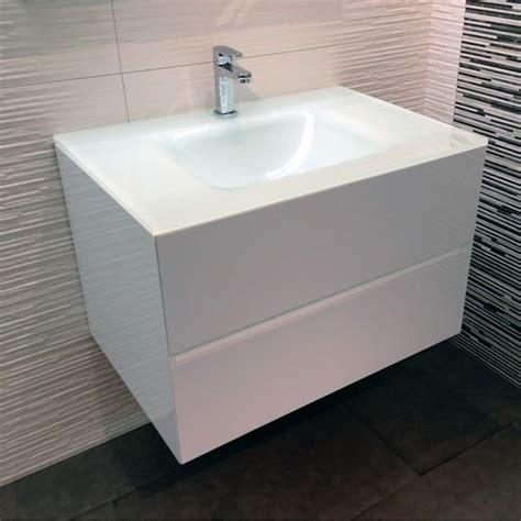 Attractive Salle De Bain Beige Blanc  #1: Meuble-salle-de-bain-glass2-75-blanc.jpg