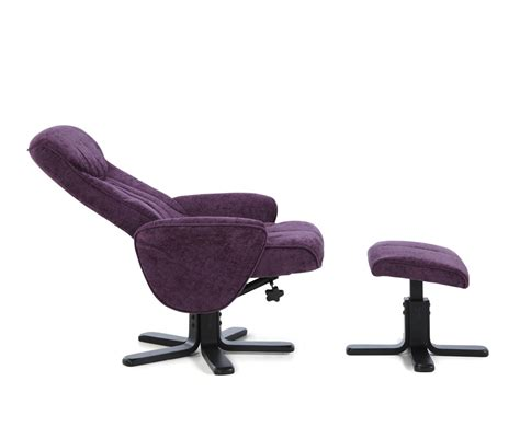 reclining chair and stool olsen amethyst fabric massage recliner chair and stool