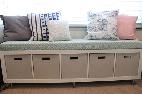 ikea hack window bench and shelf for the home pinterest mommy vignettes ikea window bench storage containers
