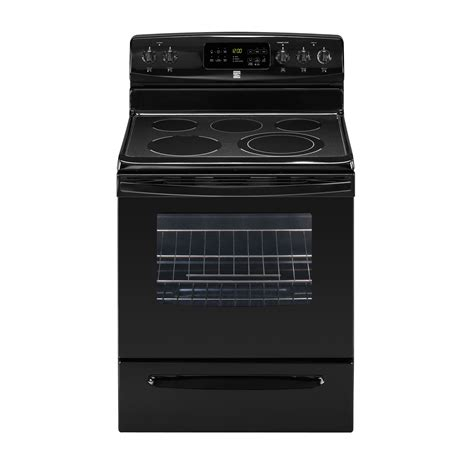Kenmore 30 Inch Electric Cooktop Kenmore 92609 5 4 Cu Ft Electric Range Black