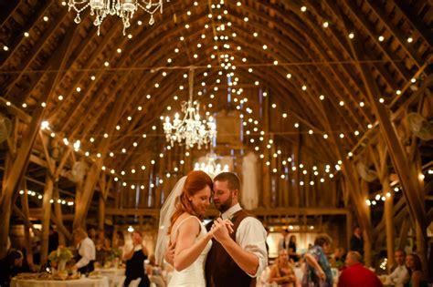 The Barn Wedding Barn Wedding With Lights