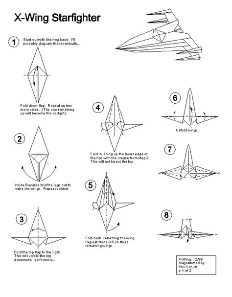 How To Make A Paper X Wing Fighter - wars origami