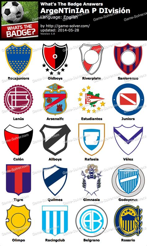 what s the whats the badge argentinian p divisi 243 n answers solver