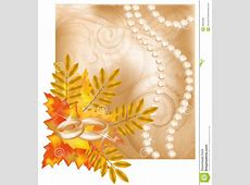 Autumn Wedding Card With Golden Rings Stock Image - Image ... Free Holiday Banner Clip Art