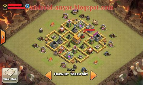 layout coc paling kuat th 7 war base coc th 6 terkuat dengan air sweeper terbaru
