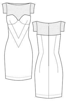 flat pattern drawing nx dress technical flat art illust pinterest