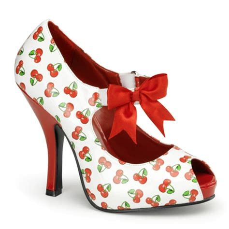 Cutie Boots High Heels pinup couture cutiepie 07 high heel cherry print pumps pinup couture shoes