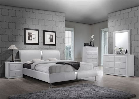 pc white enzo collection queen size platform bedroom set  savvy discount furniture