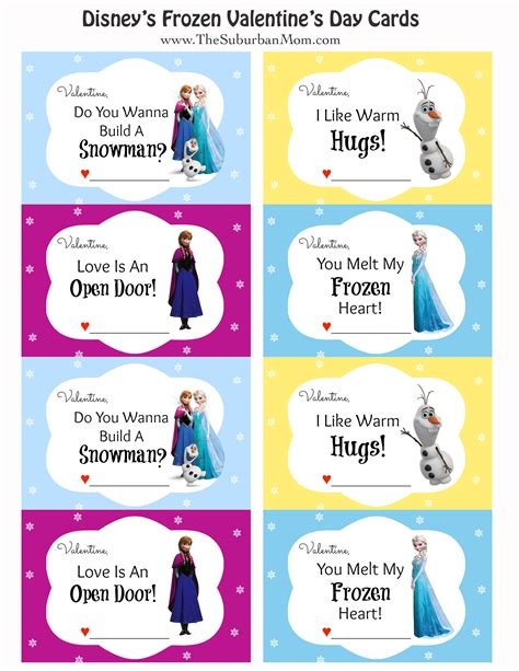 S Day Card Templates For Preschoolers by Free Printable Disney Frozen S Day Cards