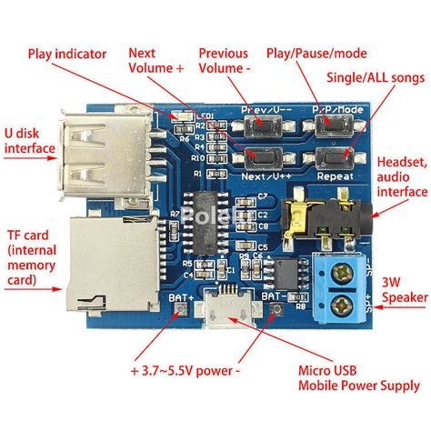 Wav Player Wp3a Tanpa Microsd mp3 format lossless decoder lifier board tf card u disk audio player module ebay