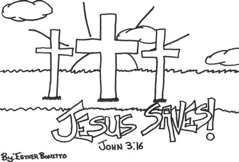Coloring Pages Jesus Saves | international deliverance ministries halifax nova