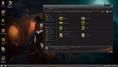 scary themes for windows 8 1 happy halloween for win7 win 8 8 1 desktop themes