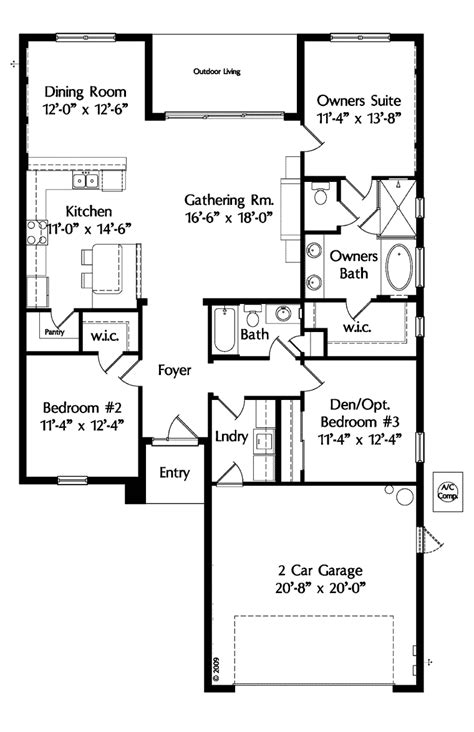 Single Level House Plans by House Plan 64638 At Familyhomeplans Com